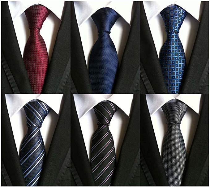 A pack of six silk ties in different colors from WeiShang