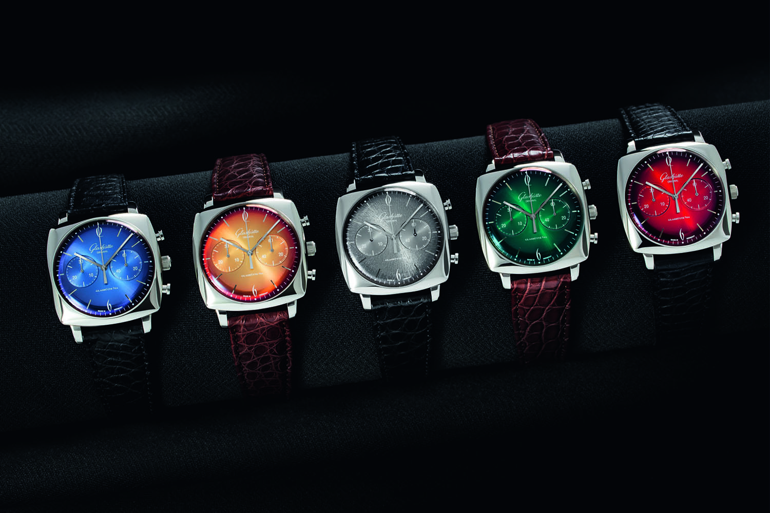 glashutte original sixties watches with their colorful dials