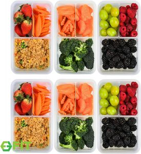 FIT Strong & Healthy Bento Box Meal Prep Containers