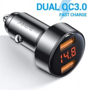 AINOPE Dual QC3.0 Car Charger