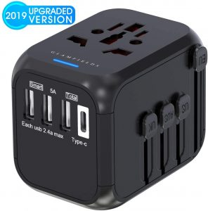 Glamfields travel adapter