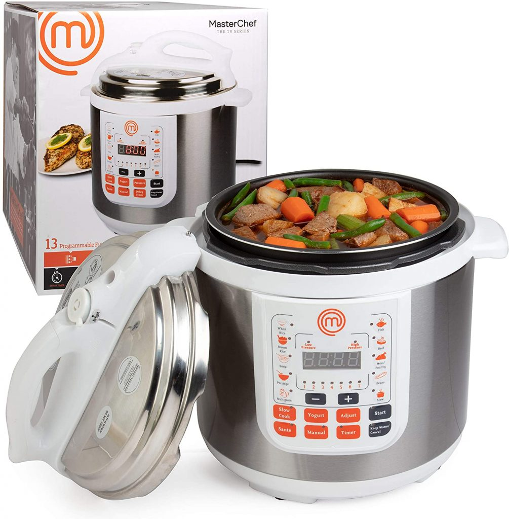 Pressure cooker with stew