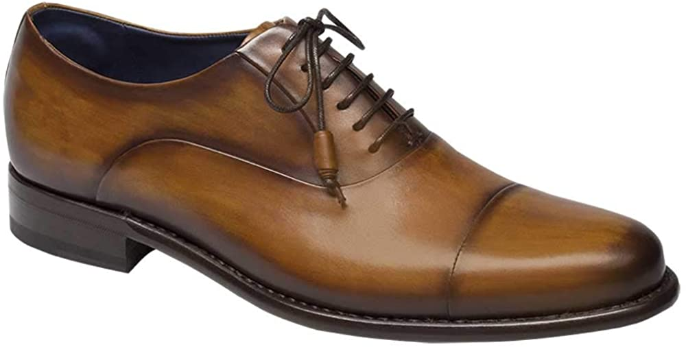 The Mezlan Helios Mens Luxury Cap Toe Oxford Lace Ups are dress shoes for men with a handcrafted charm