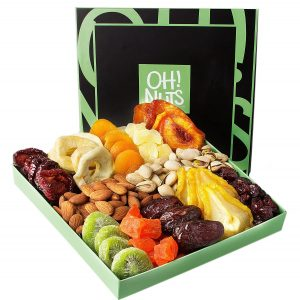 Oh! Nuts Holiday Nut and Dried Fruit Gift Basket