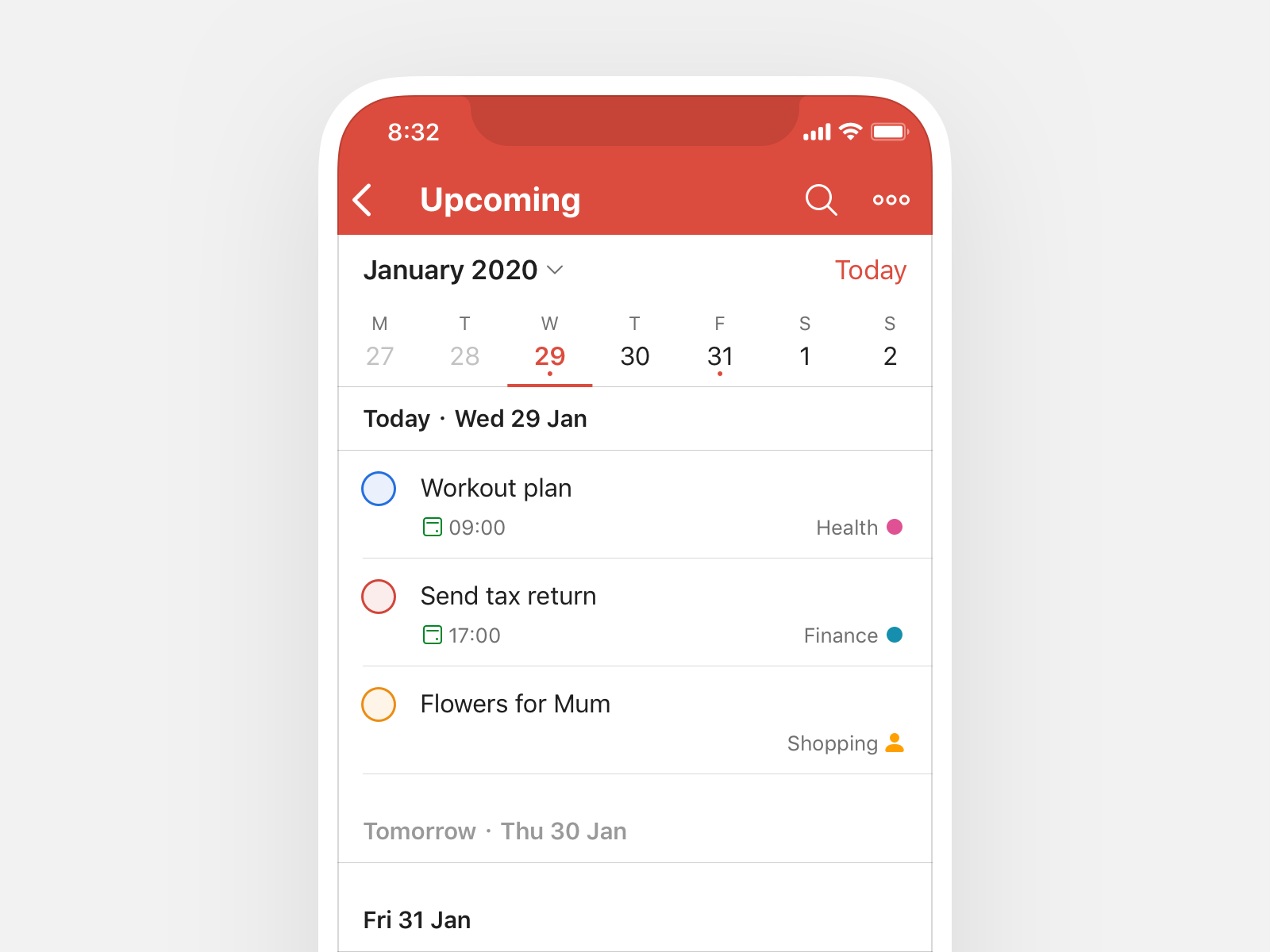 Todoist interface on smartphone