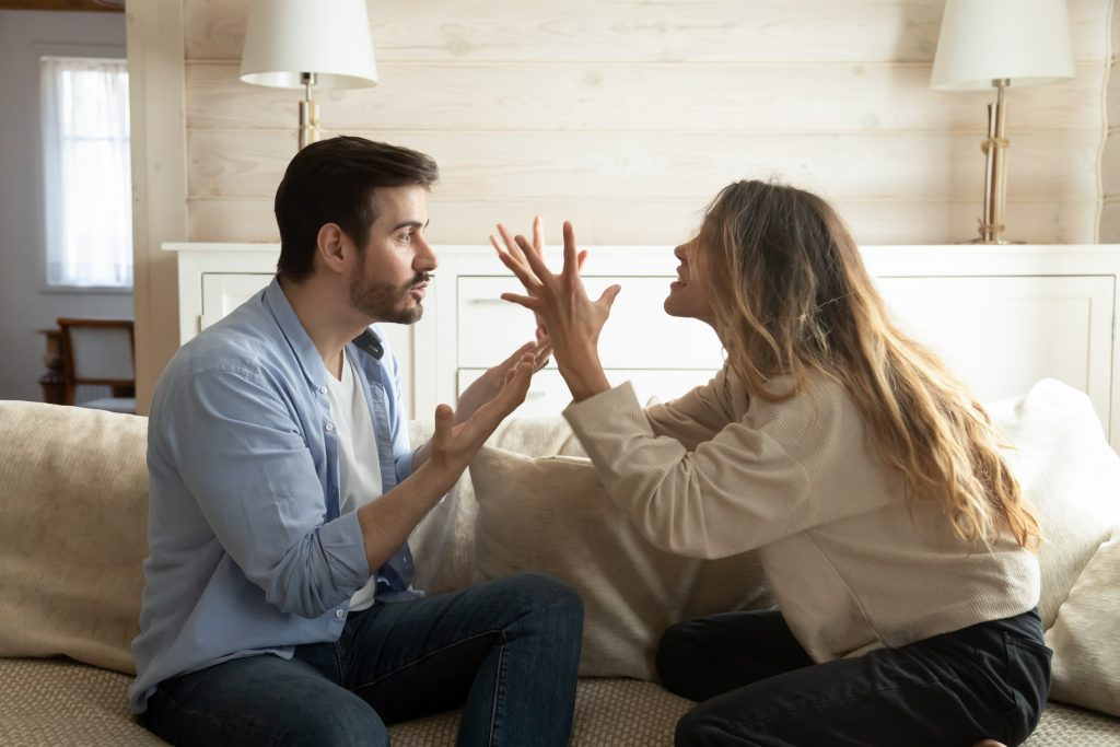 Couple arguing with each other