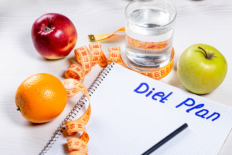 Diet Plan, Fruits, Water, Healthy Weight Loss Methods, Measuring Tape