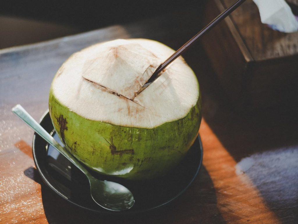 Coconut Water, Healthy Drinks, Spoon, Straw, Healthy Living