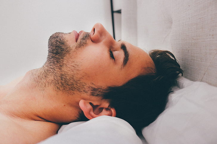 Man Sleeping, Healthy Living, Personal Well-being, Adequate Sleep