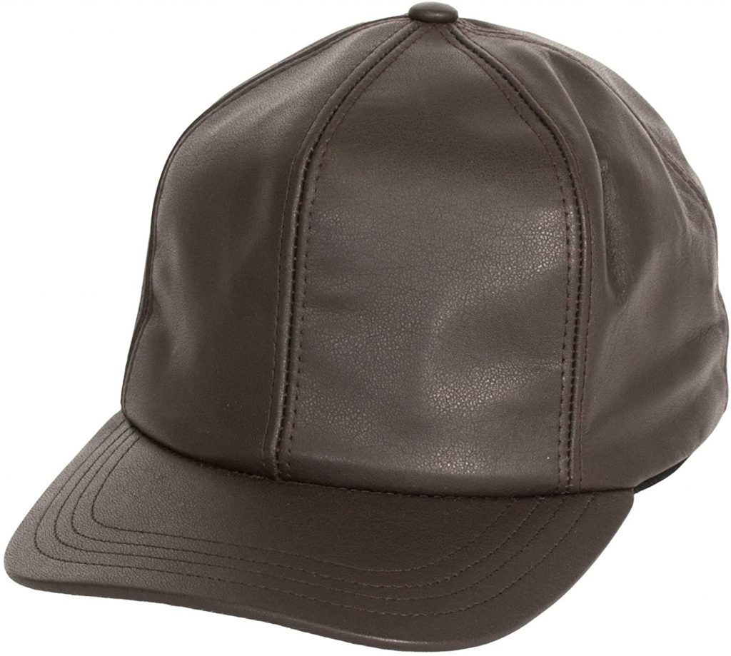 Levine Hat Co Men's Genuine Cowhide Leather Fitted Closed Back Baseball Cap