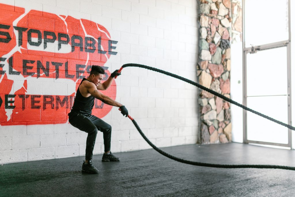 Rope whip exercises for HIIT workouts