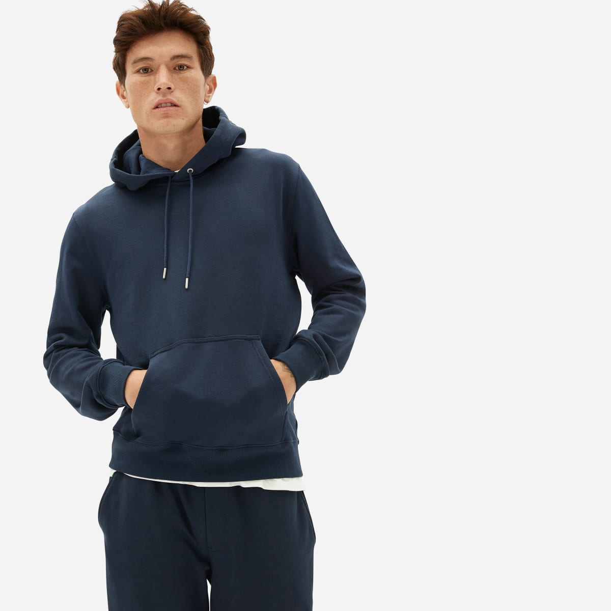 Everlane Navy French Terry Hoodie