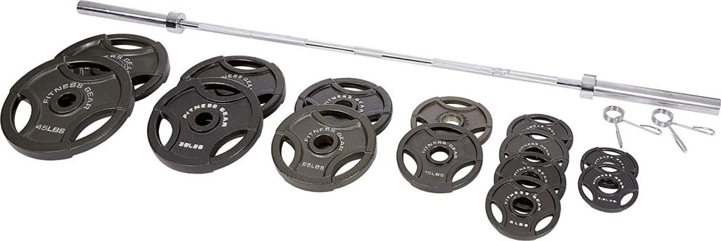 Fitness Gear 300lb Olympic Weight Set for your home gym