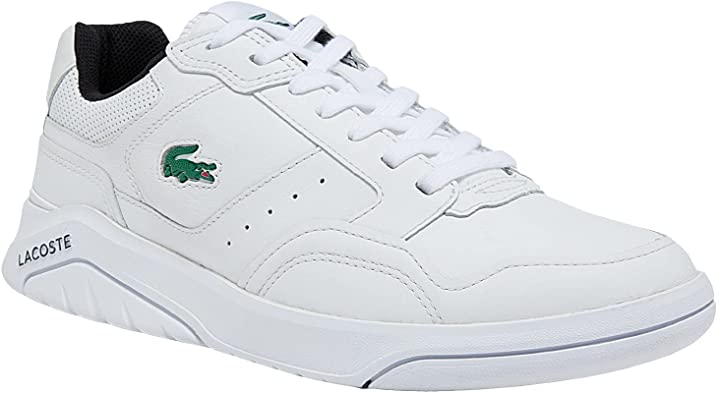 Lacoste Game Advance Luxe Leather and Synthetic White Sneakers for Men