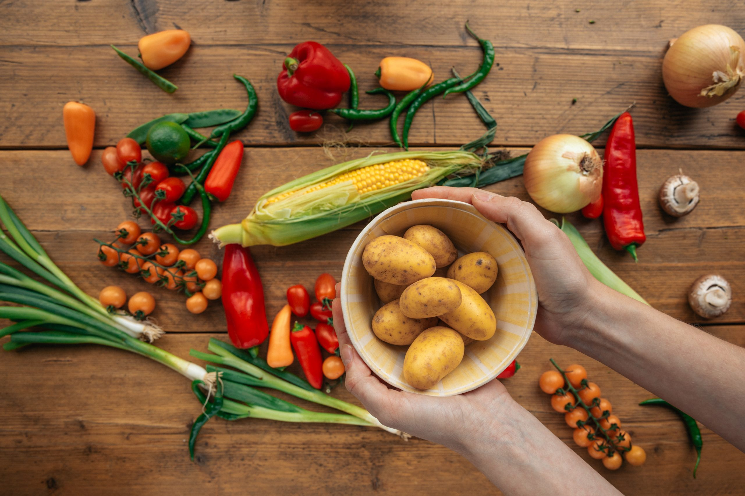 all potato diet with fruits and vegetables