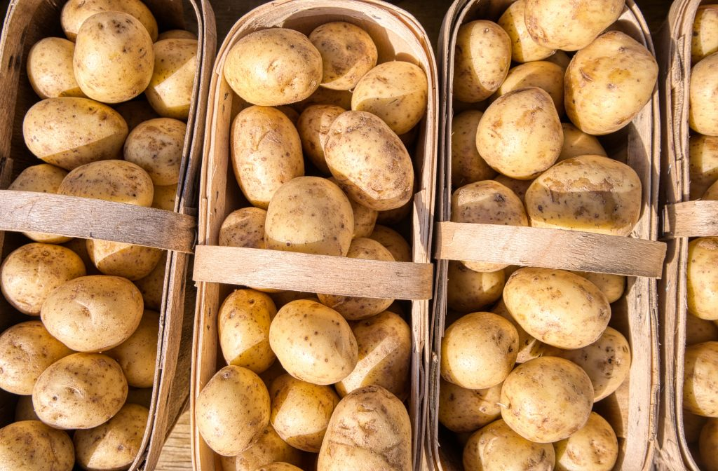potato weight loss vegetables in baskets