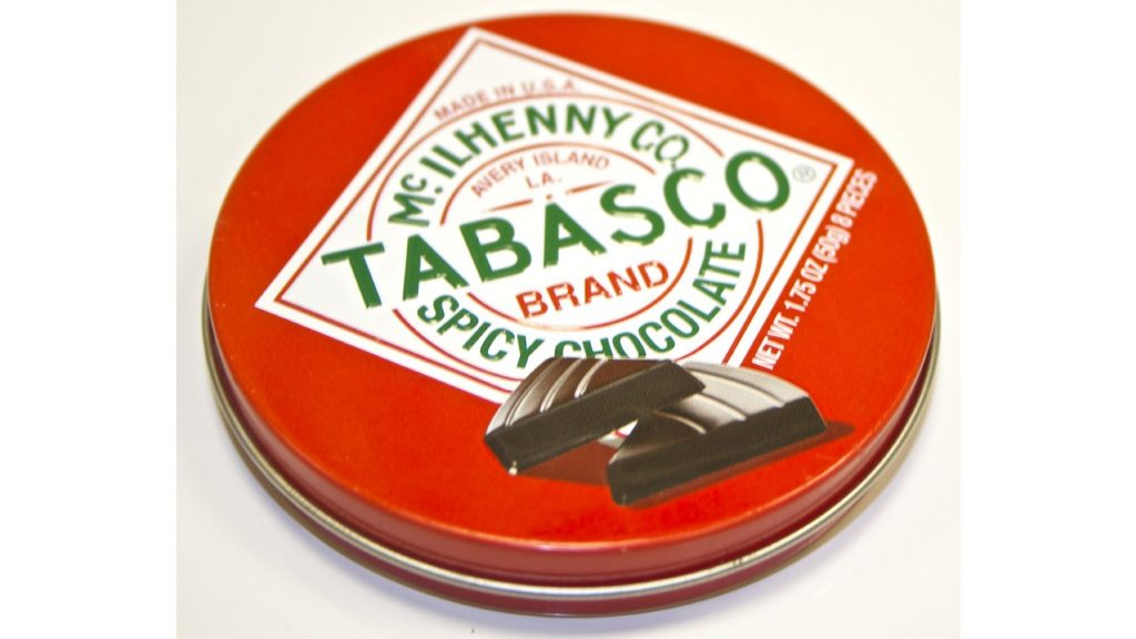 tins of spicy chocolate as funny stocking stuffer ideas for him