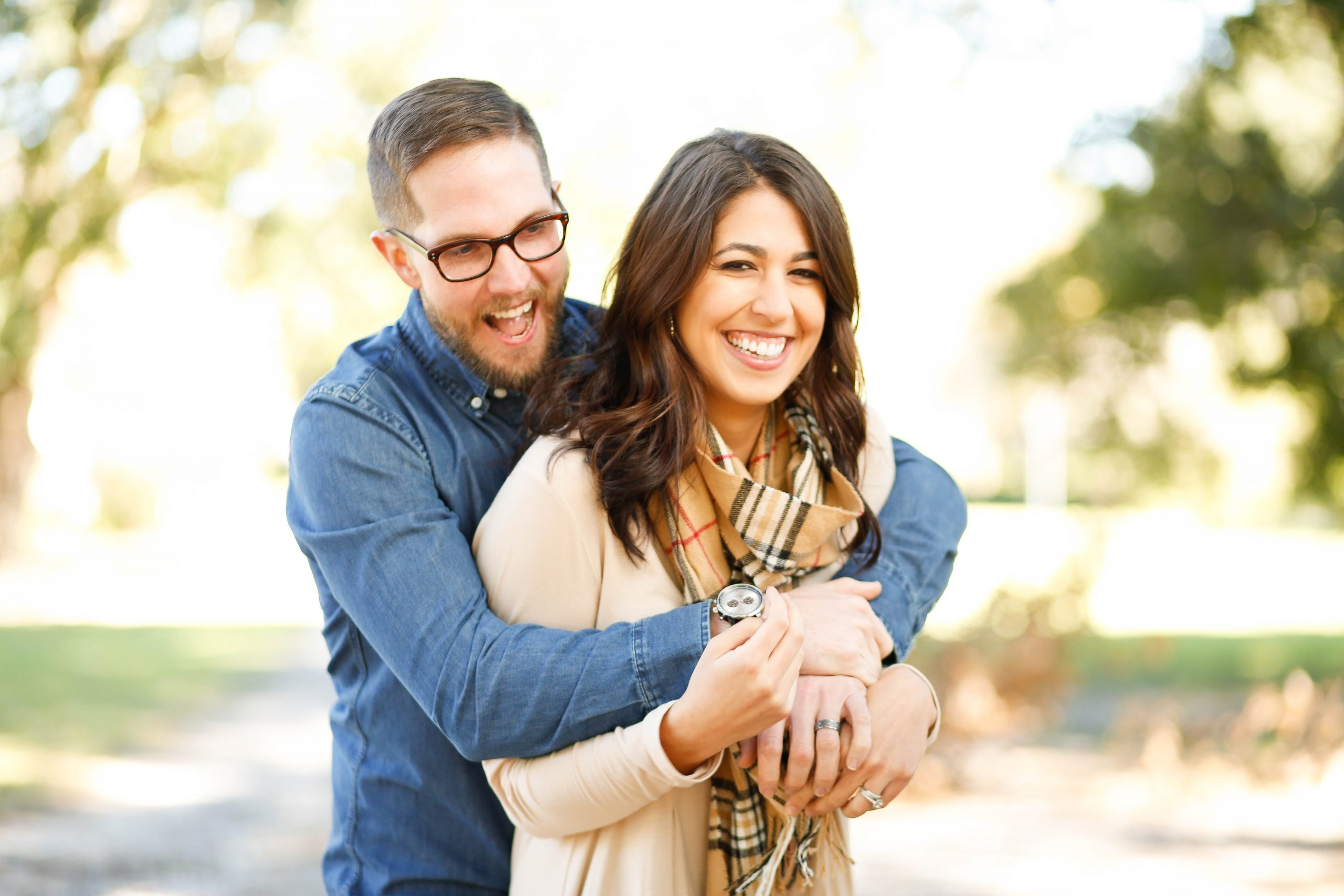 couple hugging to show how to be a good spouse