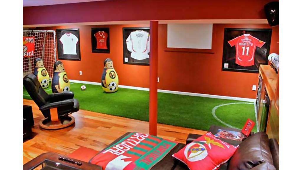 the best man cave ideas for soccer fans